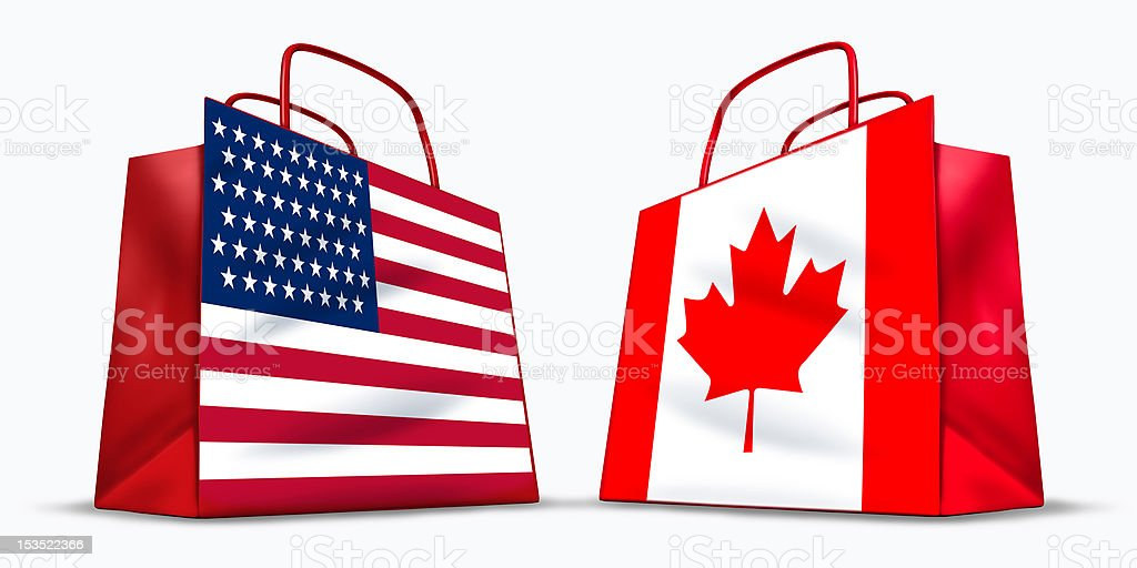 U.S.A. and Canada trade royalty-free stock photo