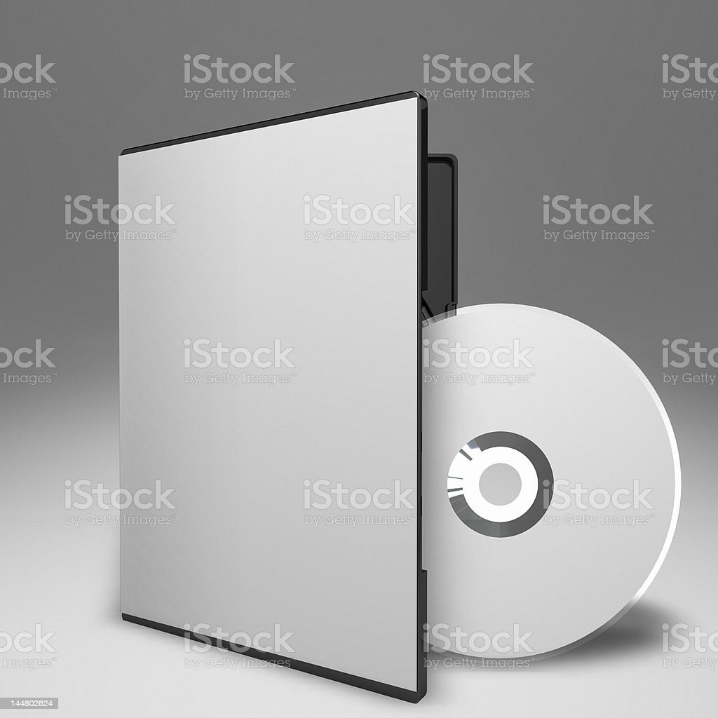 DVD and Case 02 stock photo