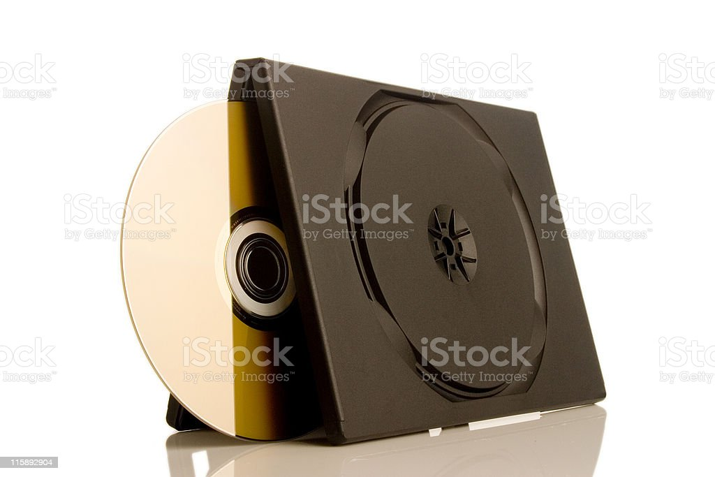 DVD and Case royalty-free stock photo