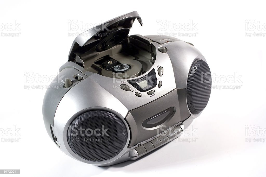 CD and cassette player royalty-free stock photo