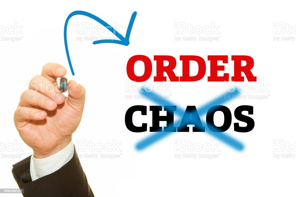 ORDER and CHAOS stock photo