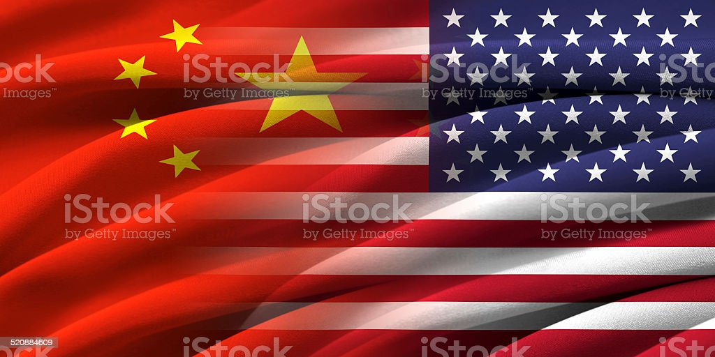 USA and China. stock photo