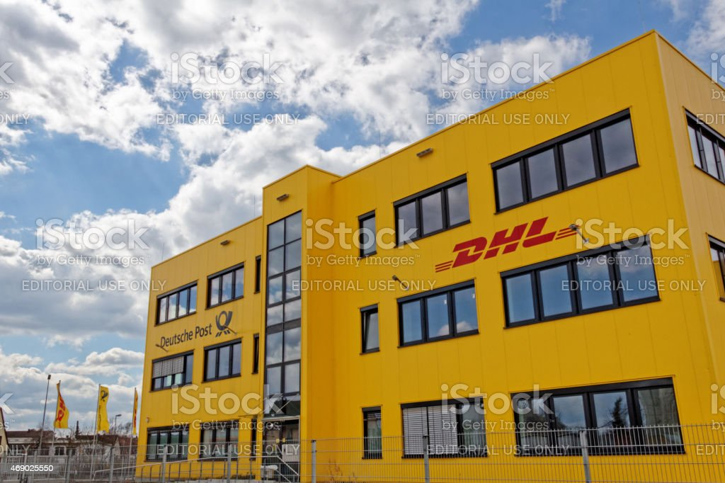 DHL and Deutsche Post building in Germany stock photo