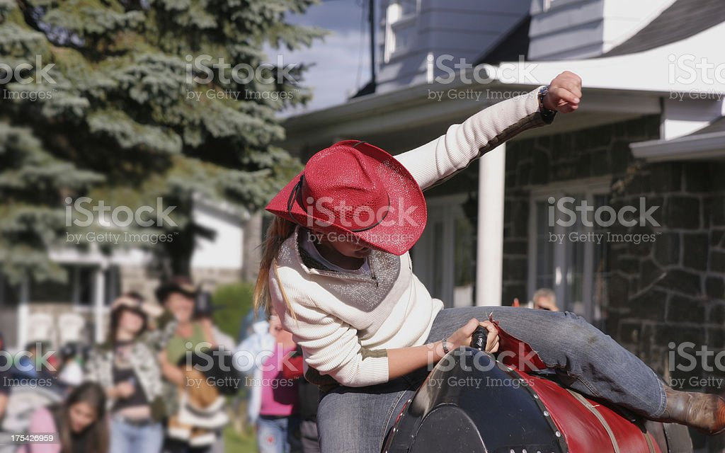 And down she goes! stock photo