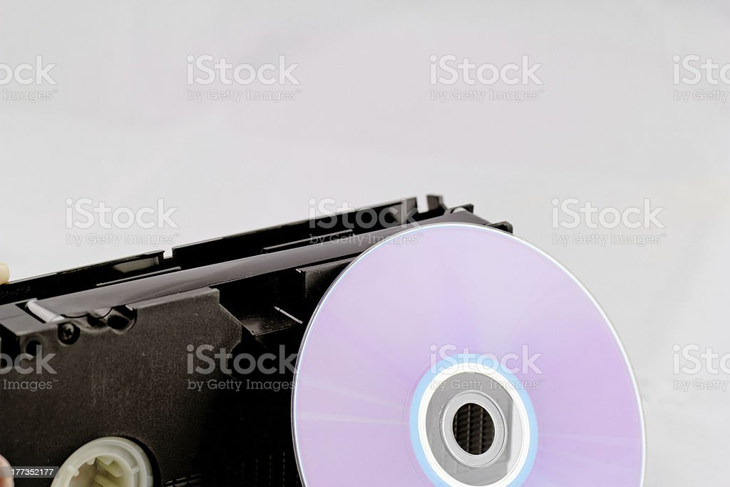 VHS and DVD royalty-free stock photo