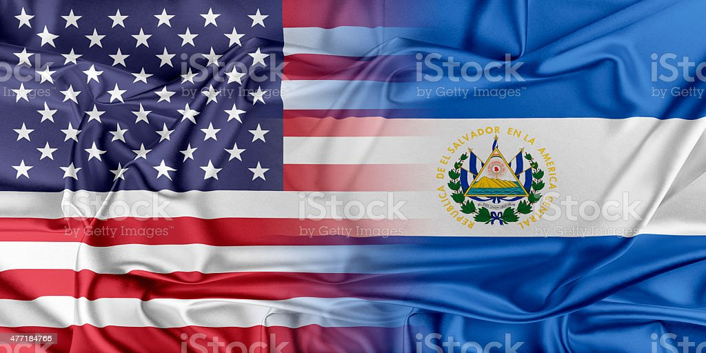 USA and El Salvador stock photo