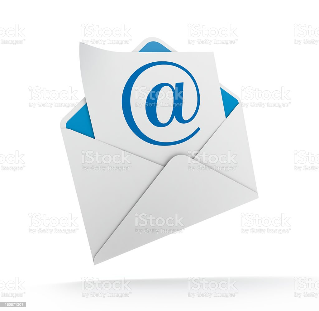 E mail envelope stock photo