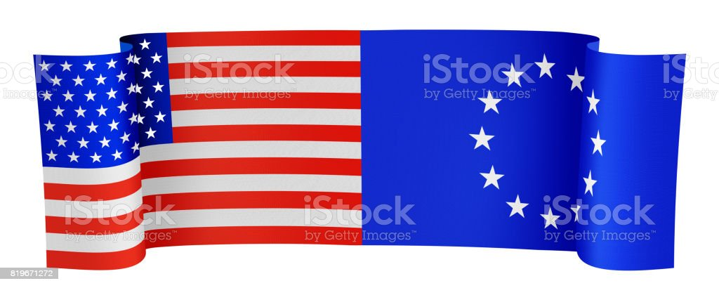 USA and EU stock photo