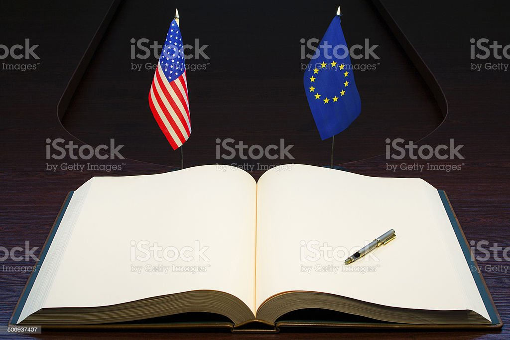 USA and Europe relations stock photo