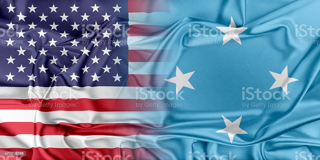 USA and Federated States of Micronesia stock photo