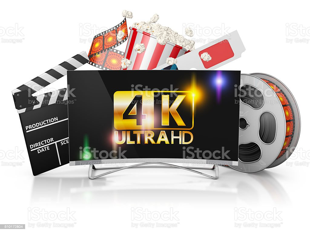 TV and film strip stock photo