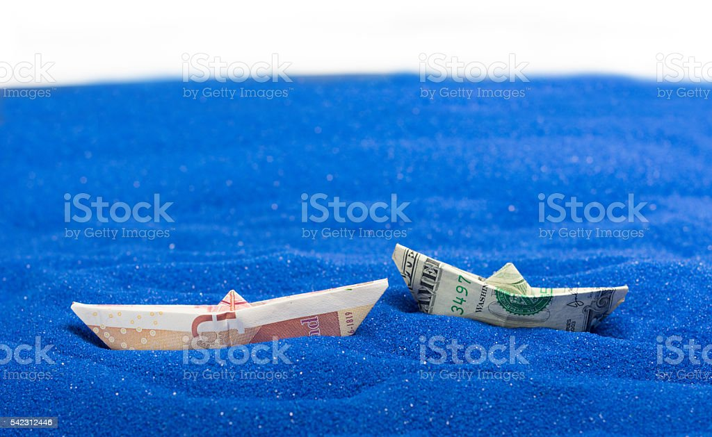 USD and GBP stock photo