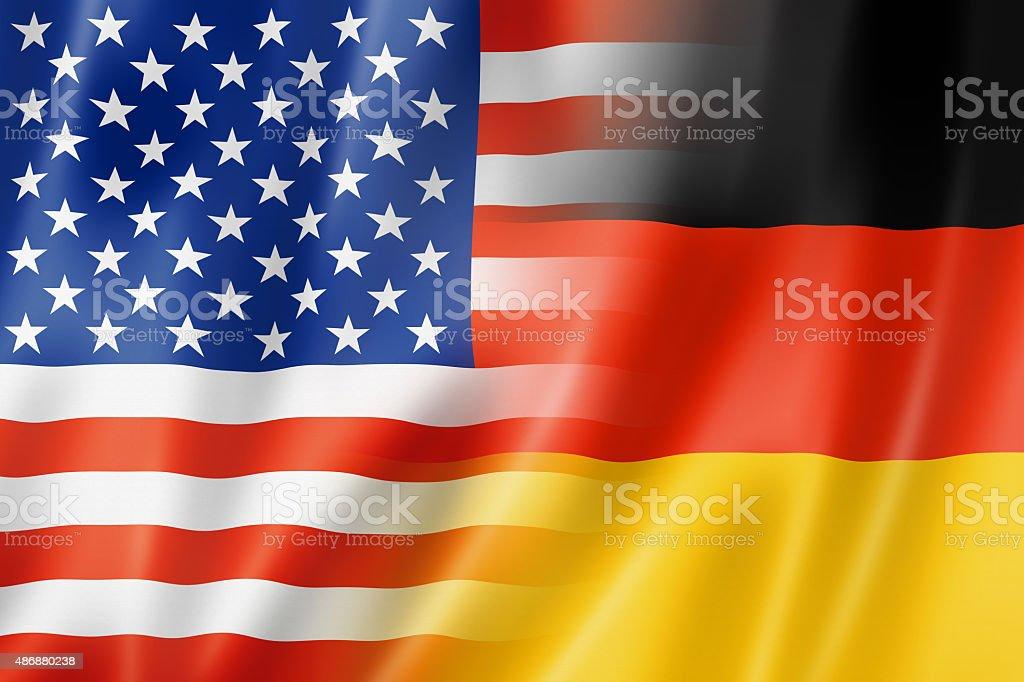 USA and Germany flag stock photo