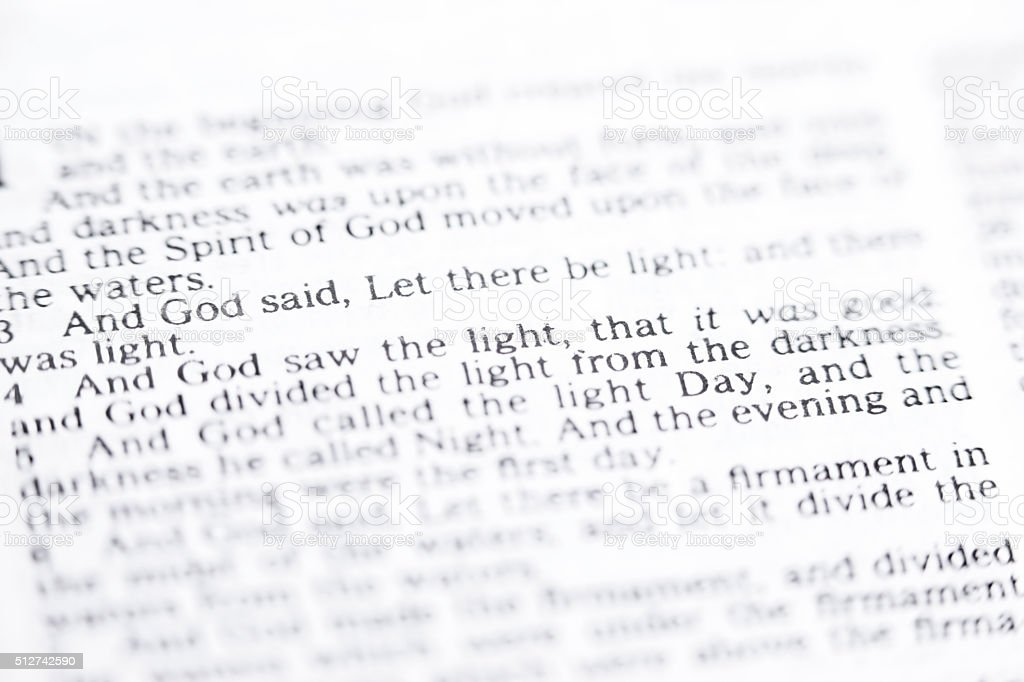 And God said,Let be light... stock photo