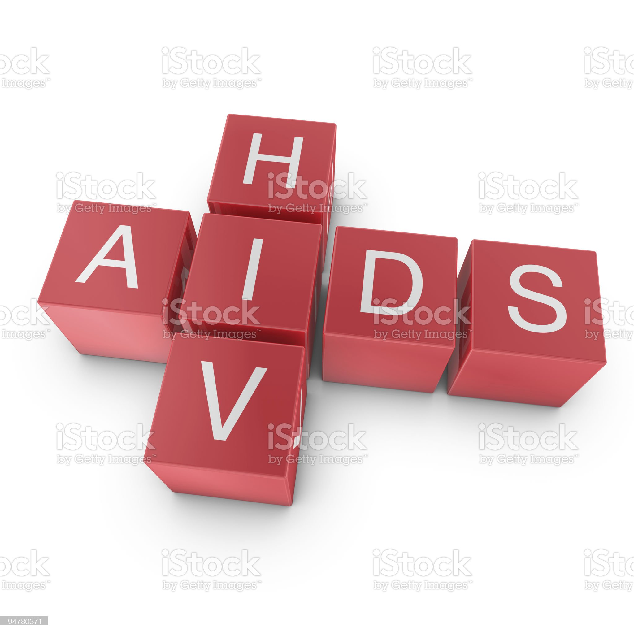 AIDS and HIV crossword royalty-free stock vector art