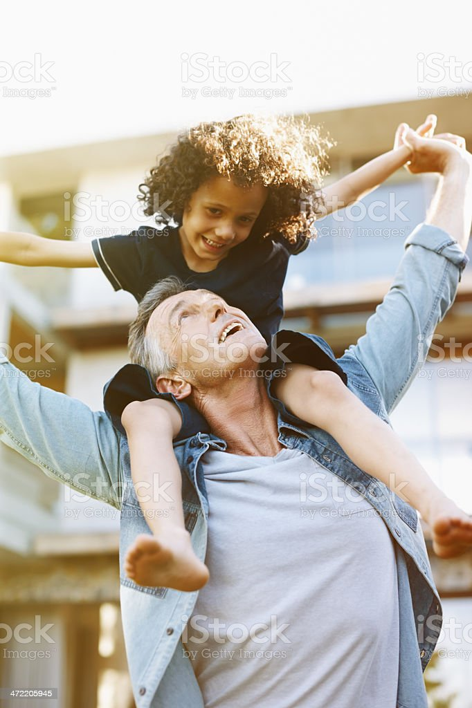 And how's my boy doing? stock photo