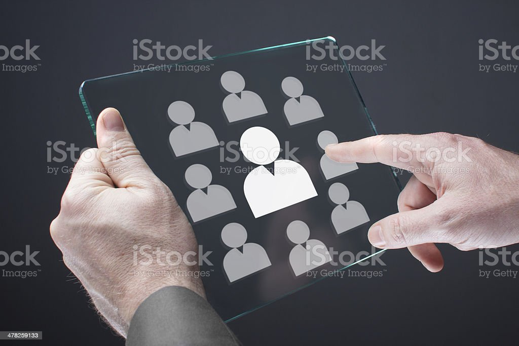 CEO and human resources stock photo