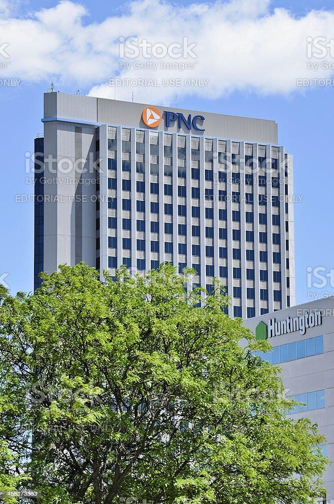 PNC and Huntington National Bank stock photo