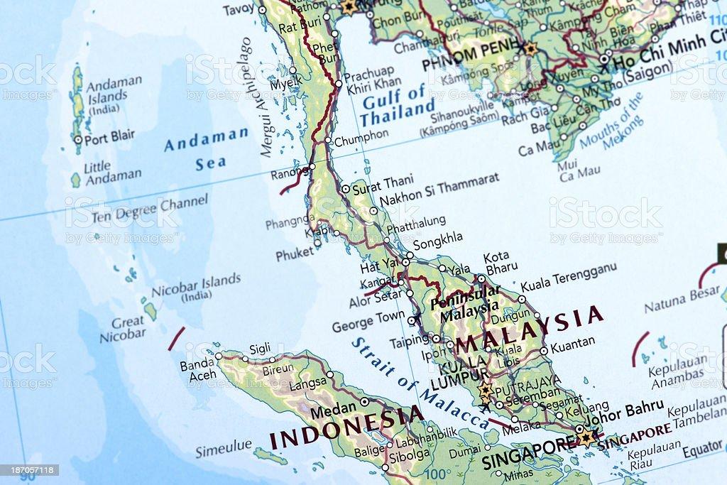 MALAYSIA, SINGAPORE and INDONESIA royalty-free stock photo