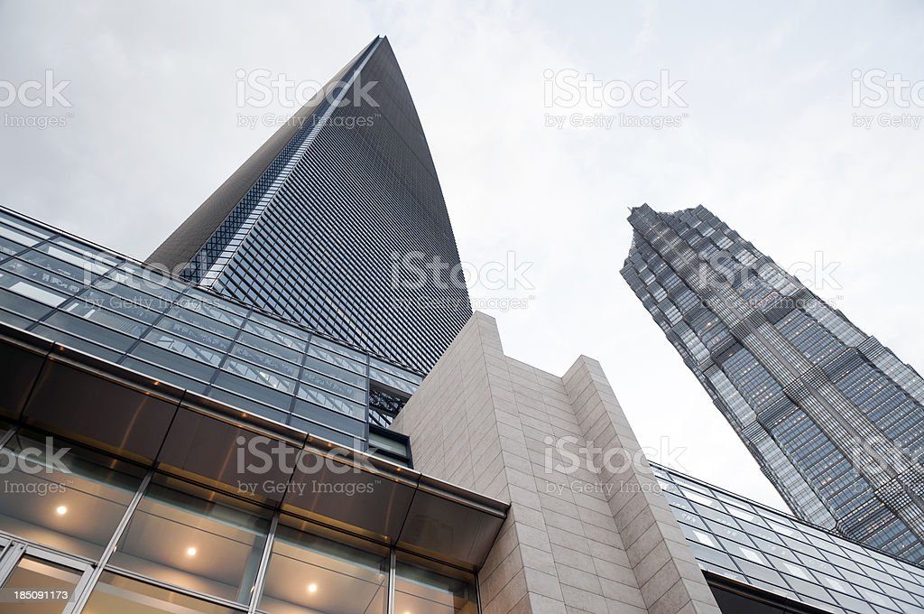 SWFC and Jin Mao Tower Shanghai China stock photo