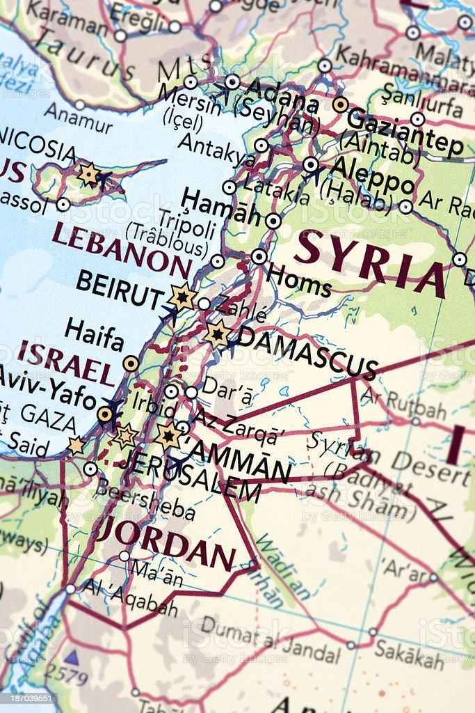 ISRAEL, LEBANON and JORDAN stock photo