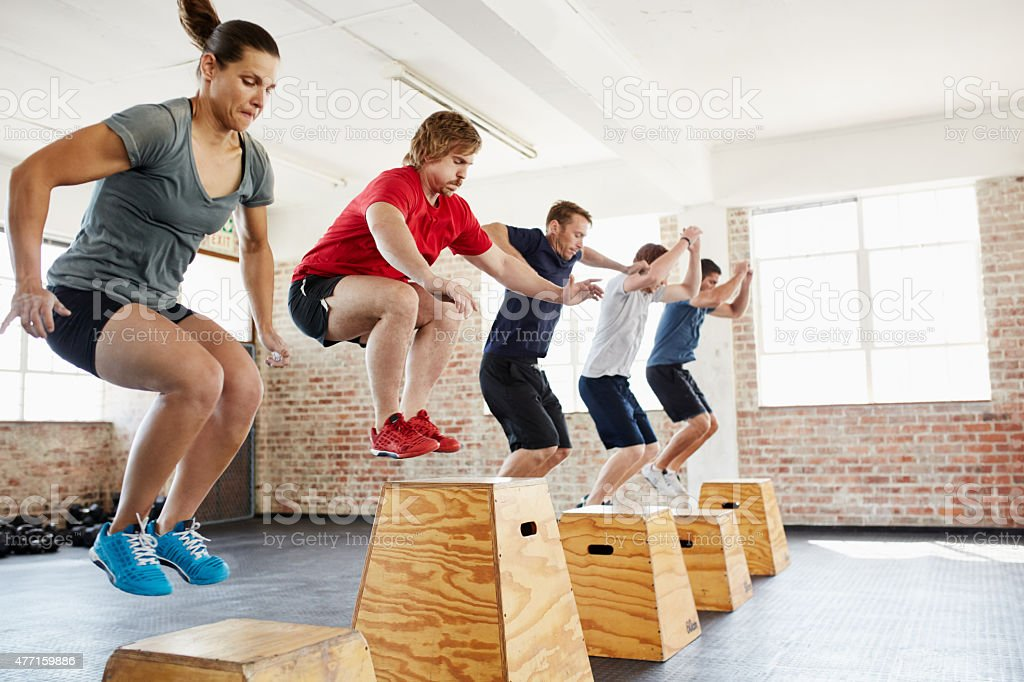 And jump! stock photo