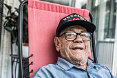 WWII And Korea Conflict USA Military Veteran Smiling