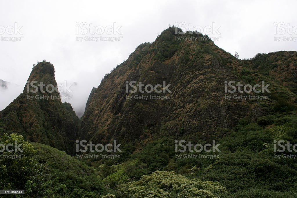 IAO  and large mountain stock photo