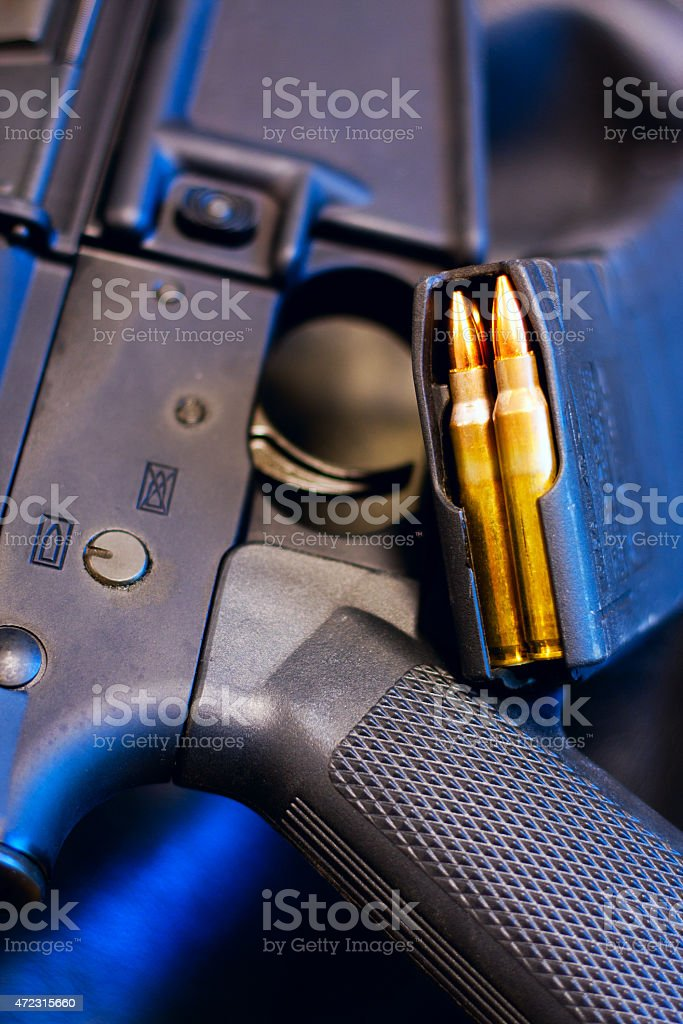 AR15 and Loaded Magazine stock photo