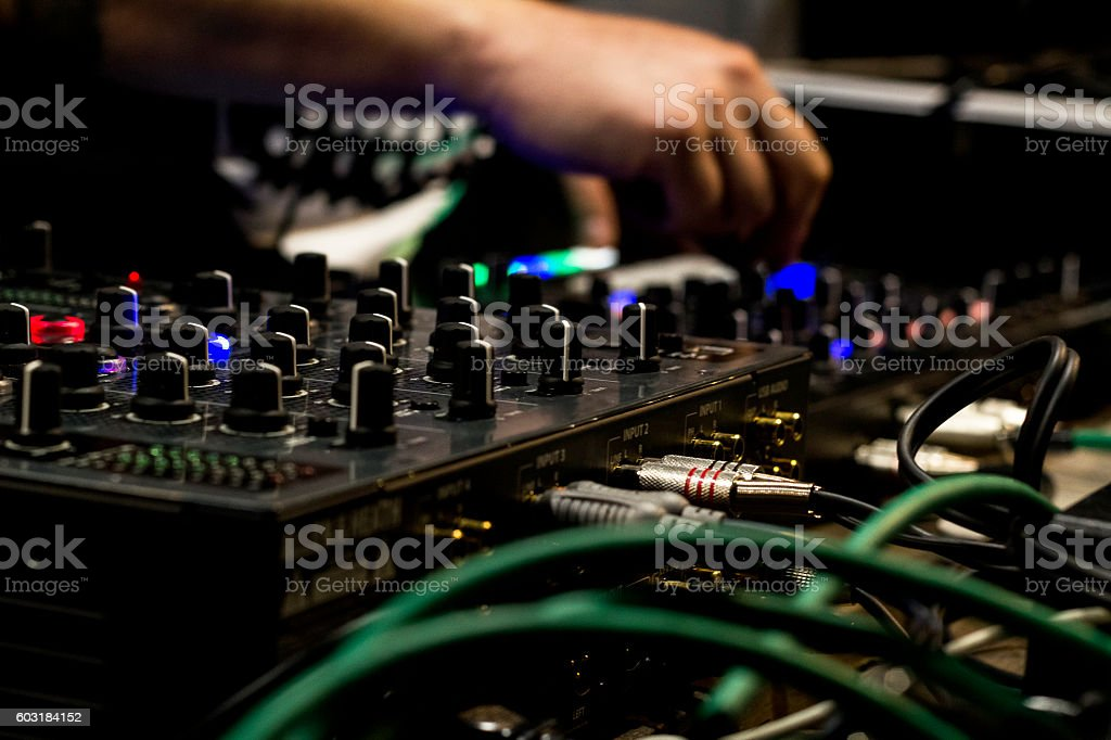 DJ and mixer stock photo