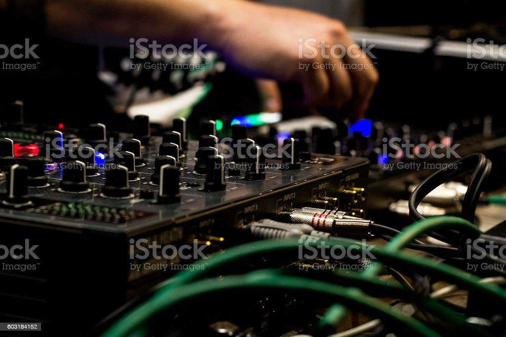 DJ and mixer stock photo