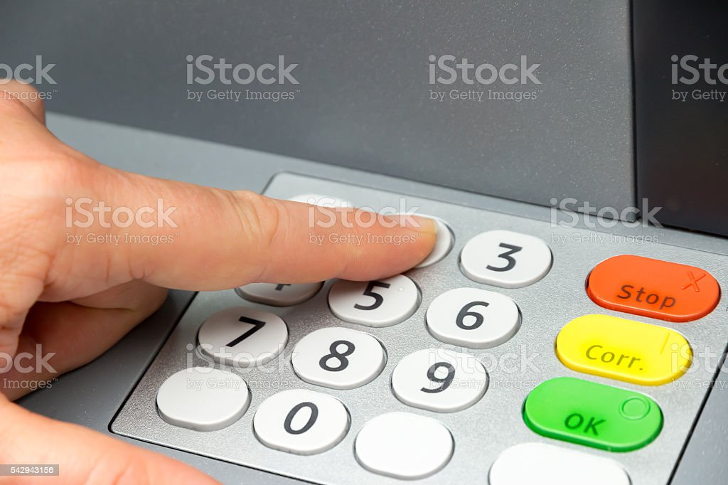 ATM and money stock photo