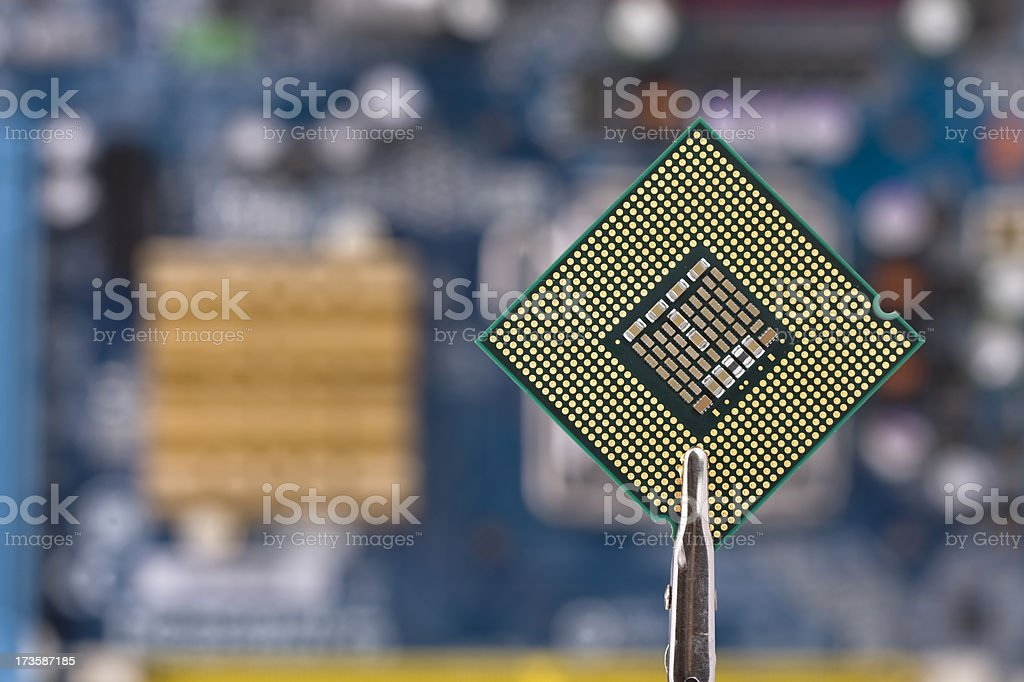 CPU and mother board stock photo