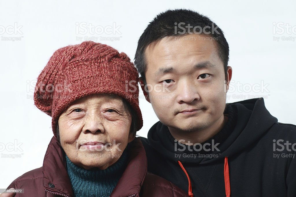 I and my grandmother royalty-free stock photo