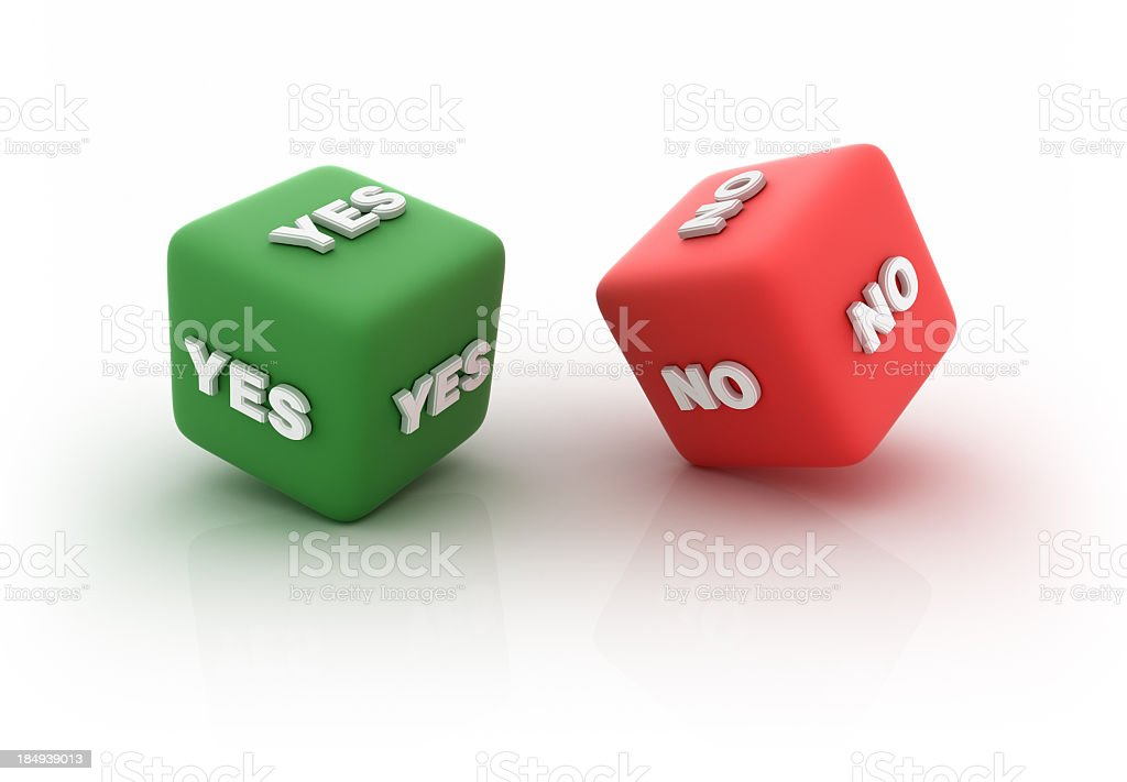 YES and NO Cubes royalty-free stock photo