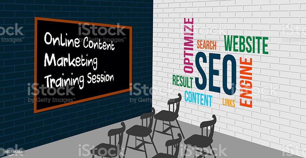SEO and Online marketing Coaching Class stock photo