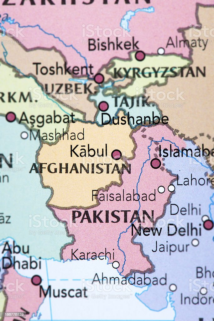 AFGHANISTAN and PAKISTAN royalty-free stock photo
