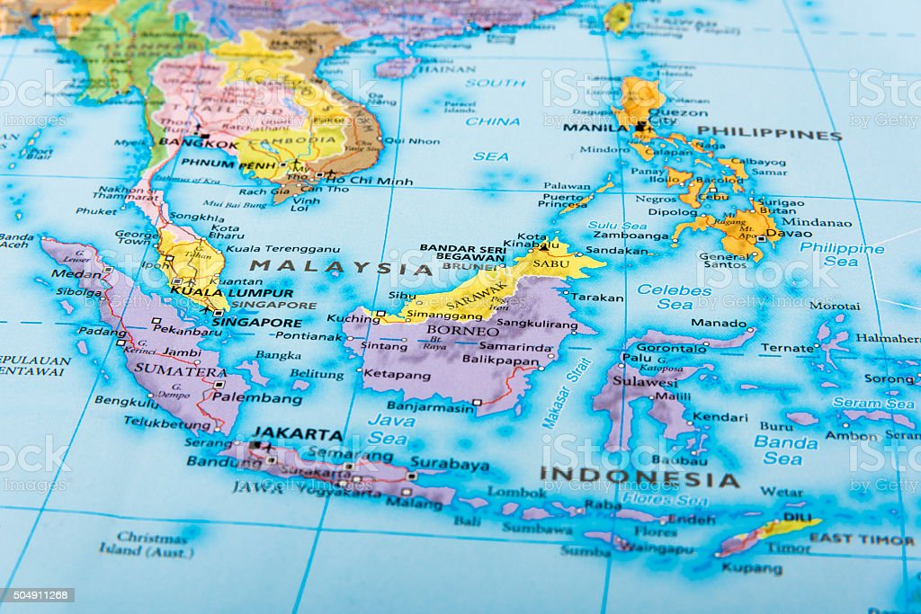 MALAYSIA, INDONESIA and PHILIPPINES stock photo
