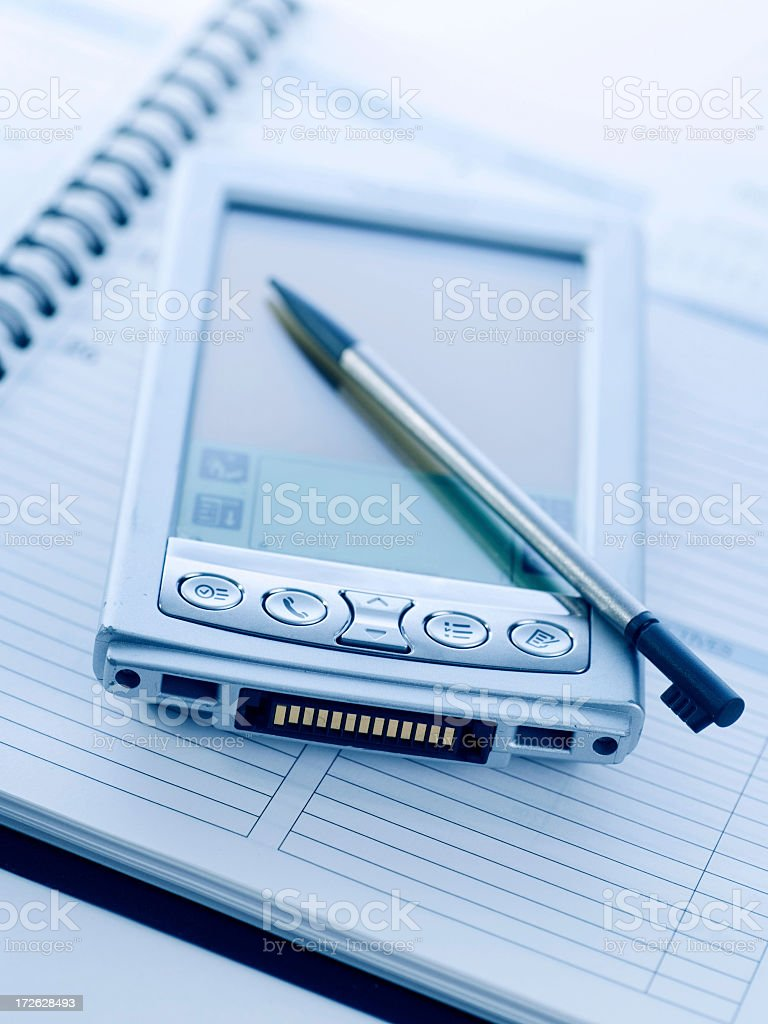 PDA and Planner royalty-free stock photo