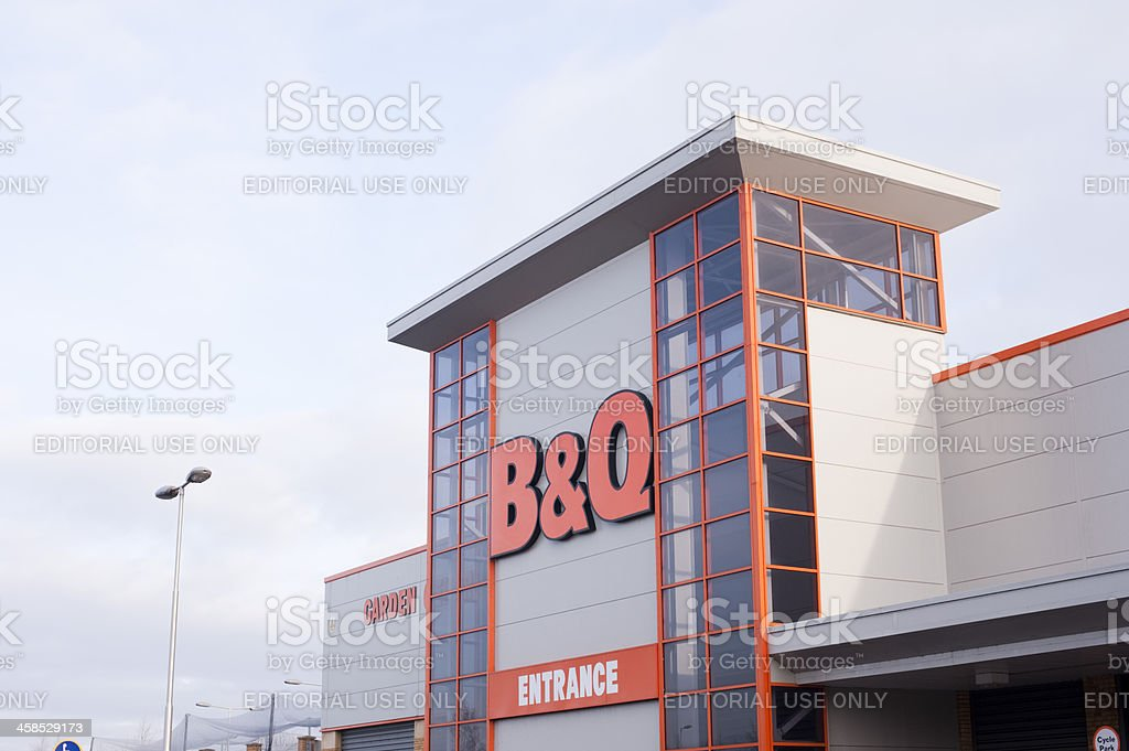 B and Q Store stock photo