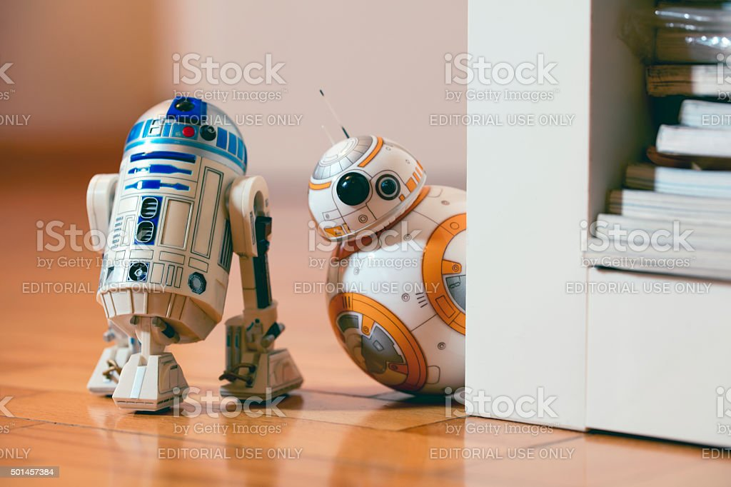 BB-8 and R2D2 stock photo