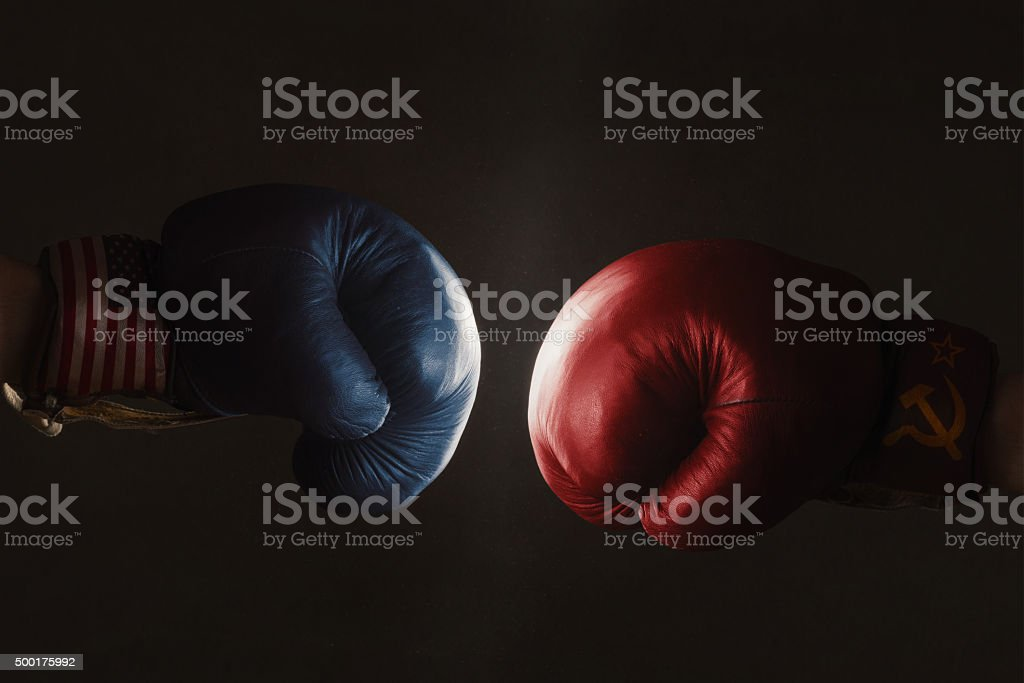 USA and Russia stock photo