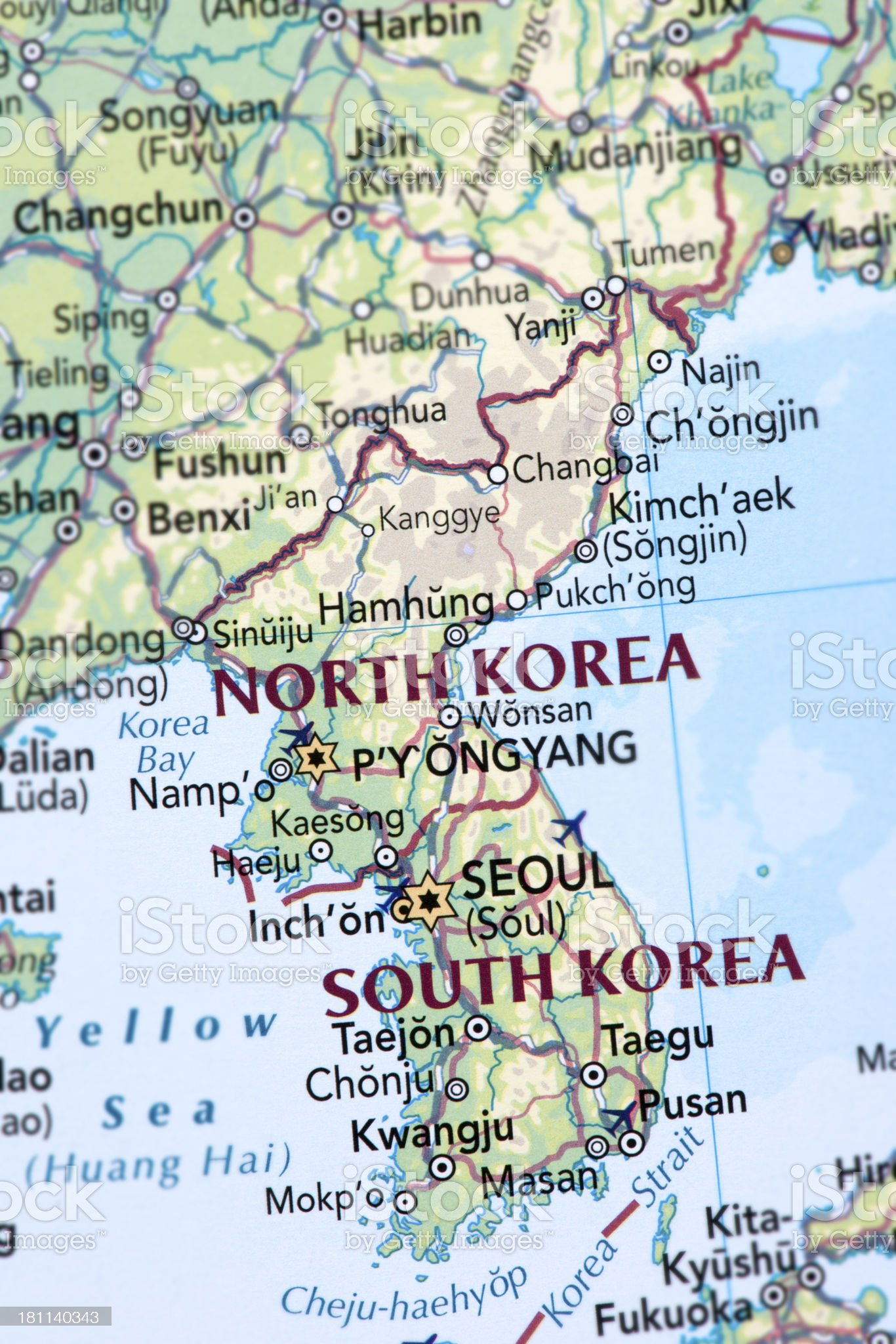 NORTH and SOUTH KOREA royalty-free stock photo