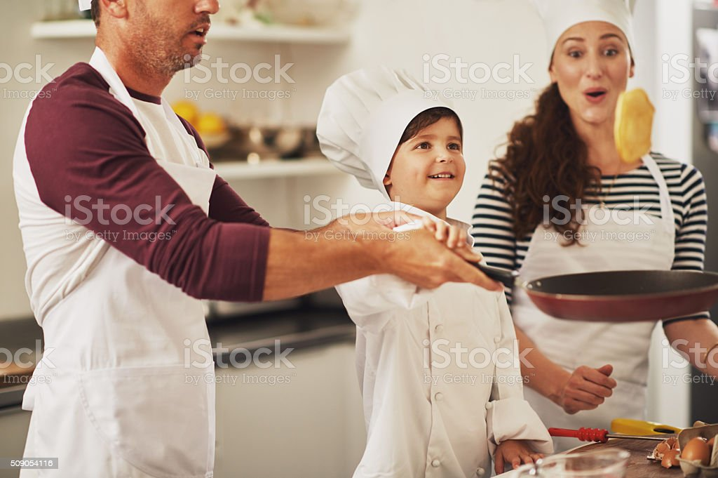And that's how it's done! stock photo