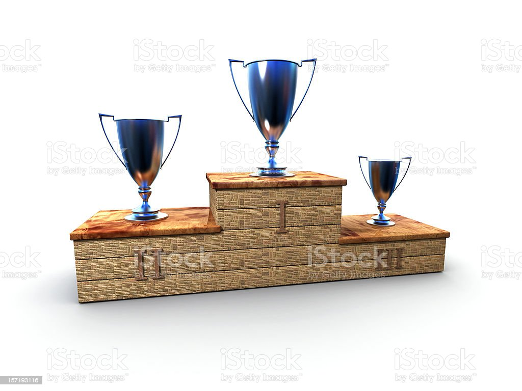 And the winner is.., Podium royalty-free stock photo