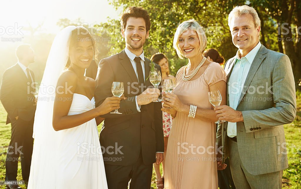 And they lived happily ever after stock photo
