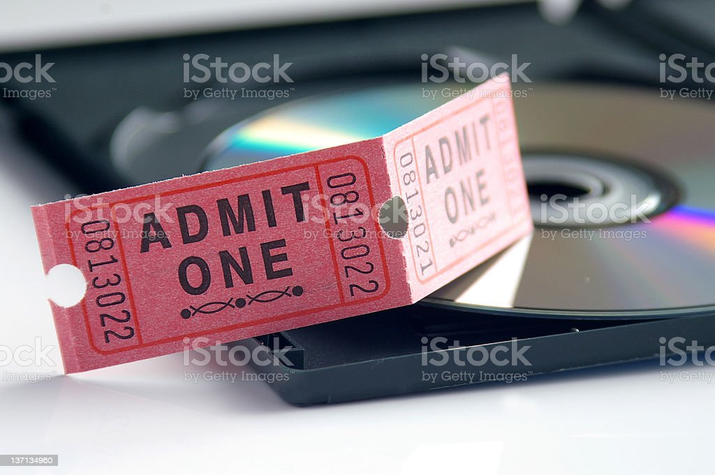 DVD and tickets royalty-free stock photo
