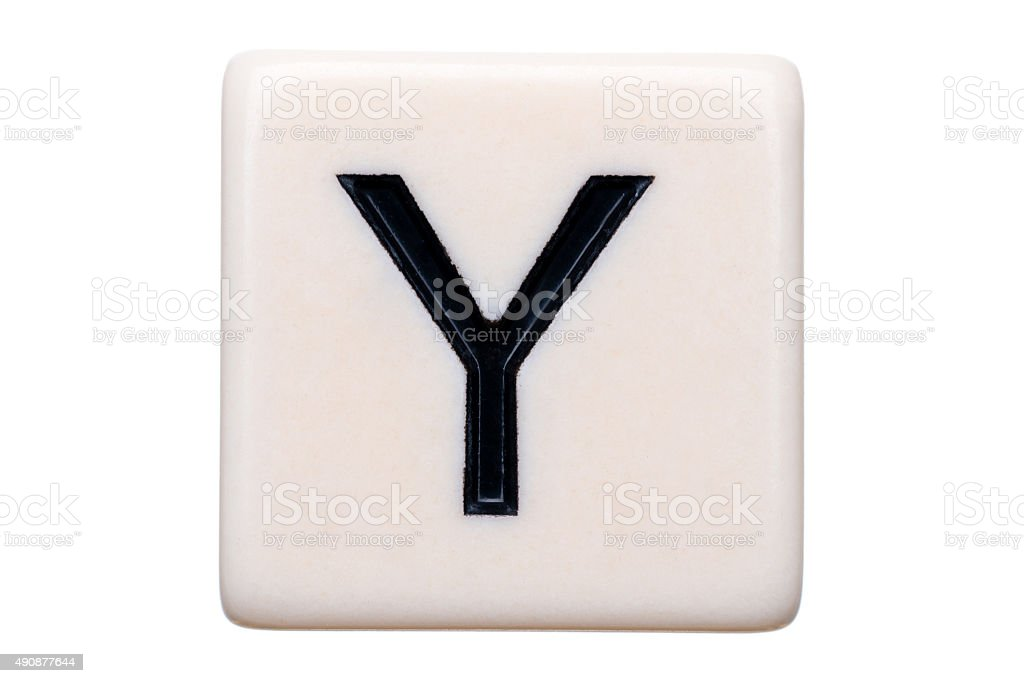 Y Tile stock photo