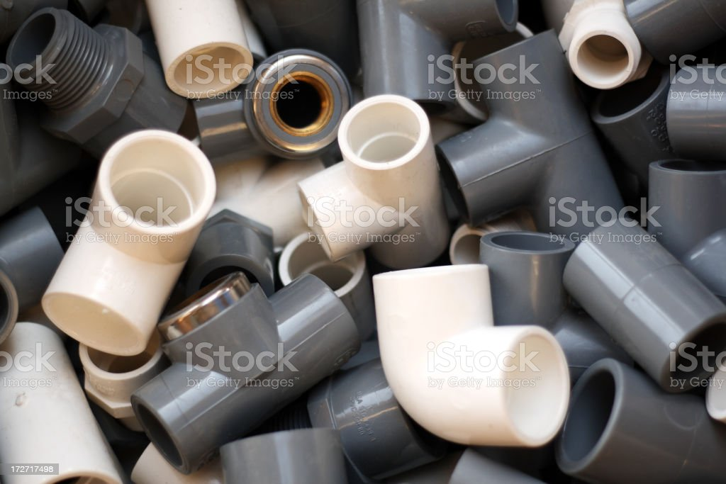 C-PVC and U-PVC Fittings royalty-free stock photo