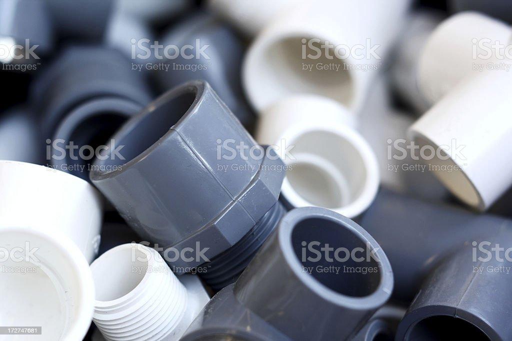 C-PVC and U-PVC Fittings stock photo
